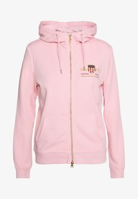 GANT - ARCHIVE SHIELD FULL ZIP HOODIE - Hettejakke - preppy pink - 0