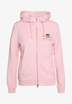 ARCHIVE SHIELD FULL ZIP HOODIE - Hettejakke - preppy pink