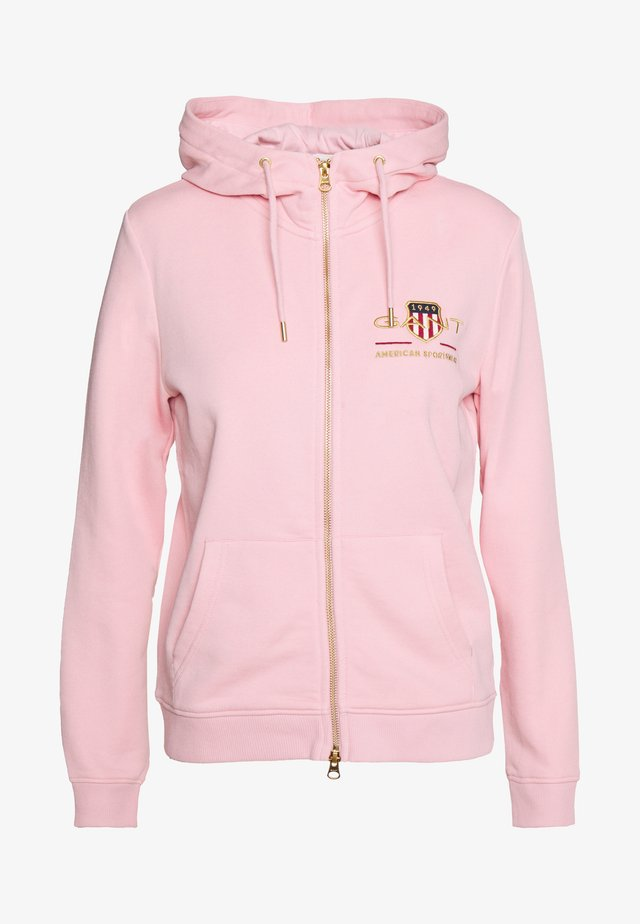 ARCHIVE SHIELD FULL ZIP HOODIE - Sudadera con cremallera - preppy pink