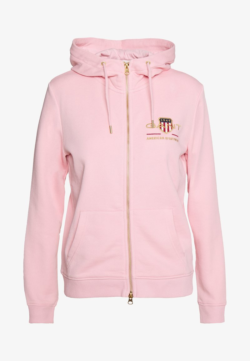 GANT - ARCHIVE SHIELD FULL ZIP HOODIE - Hettejakke - preppy pink