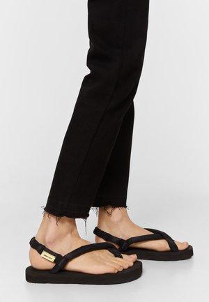 TUBULAR  - T-bar sandals - black