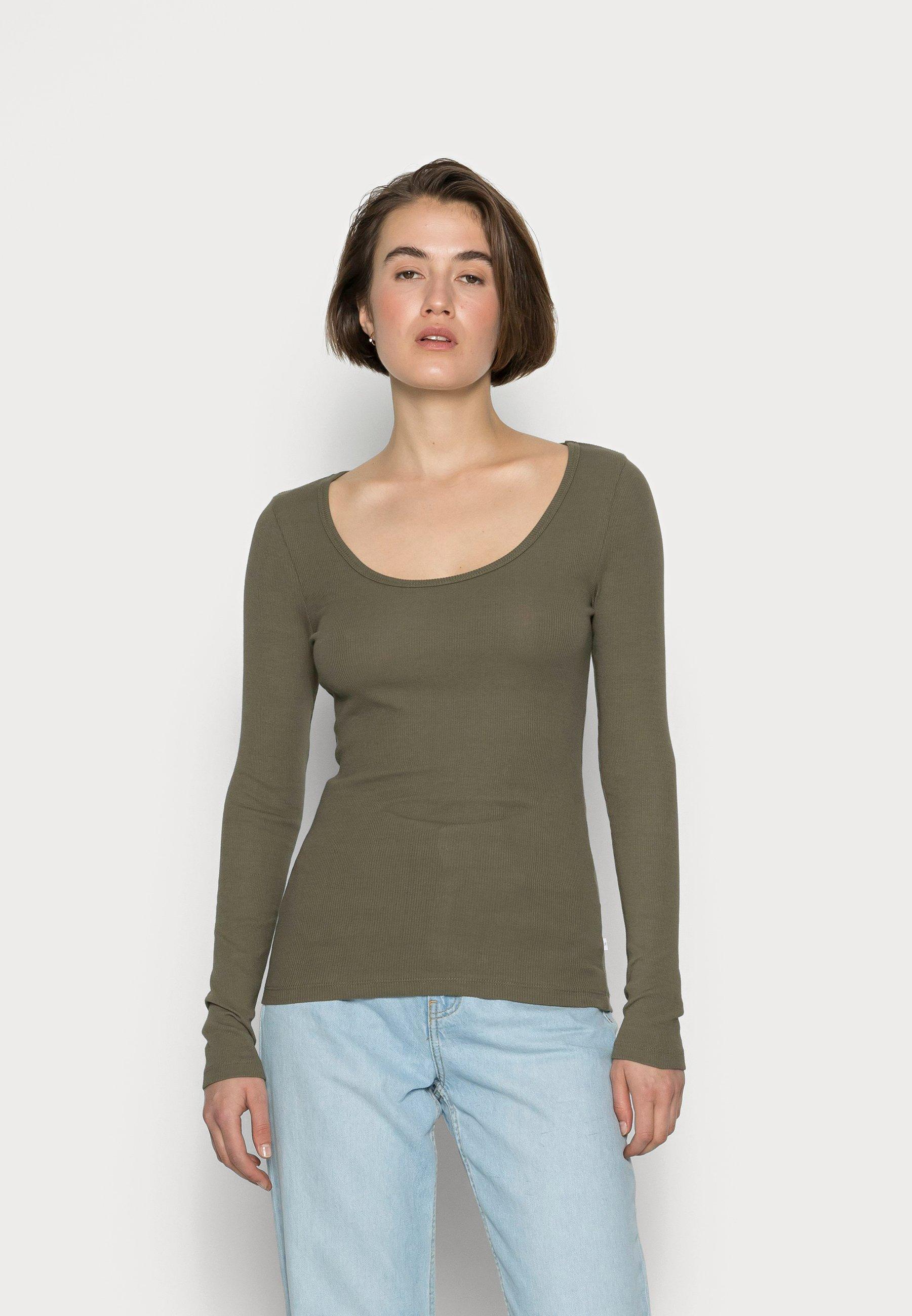 Donna SLFHEIDI SCOOP NECK - Maglietta a manica lunga