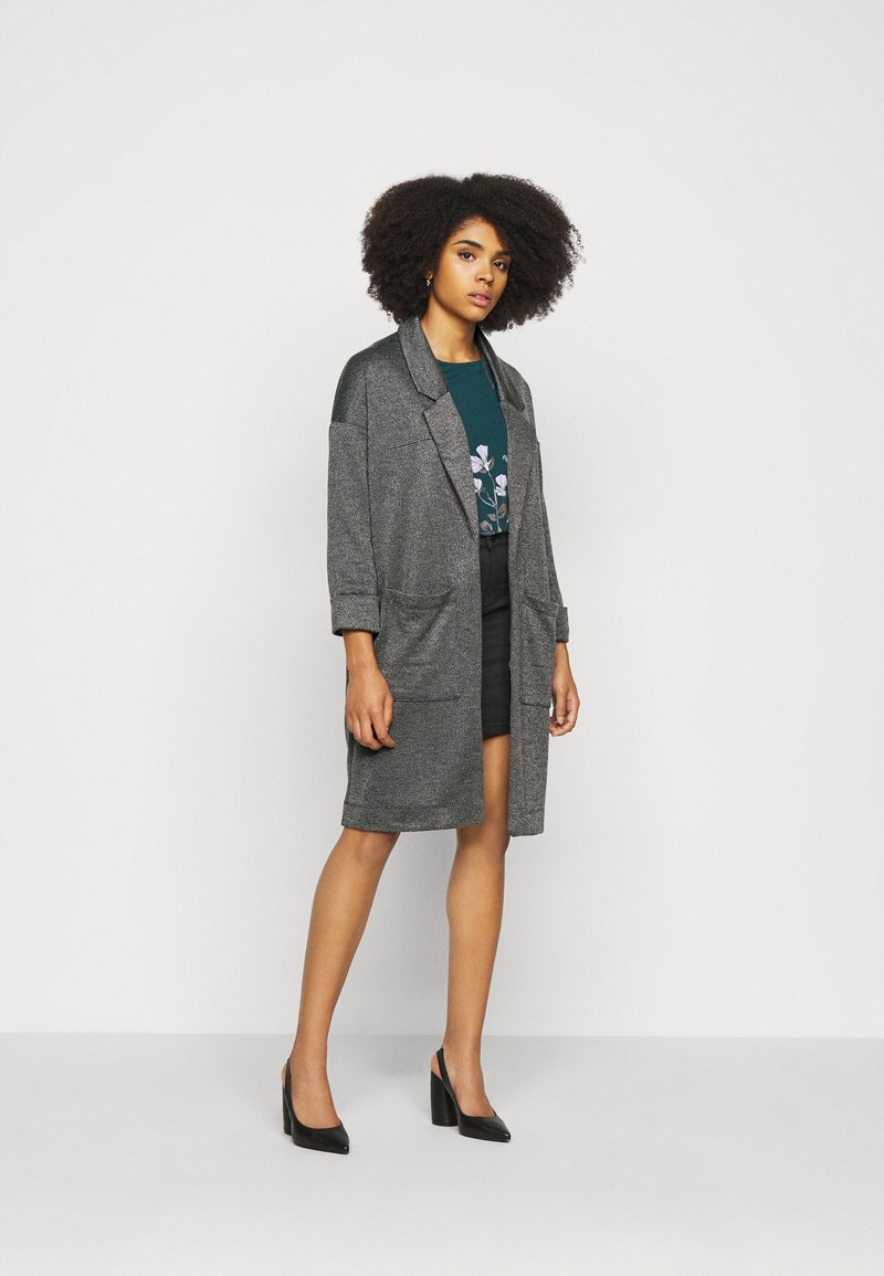 Pieces Petite - PCDORITA COATIGAN NOOS - Classic coat - dark grey