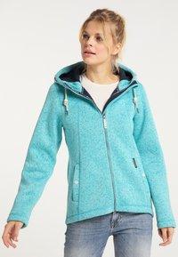 Schmuddelwedda - Winter jacket - türkis melange - 0