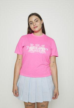 DOG  - Print T-shirt - pink glo