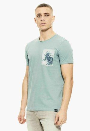Print T-shirt - ocean green