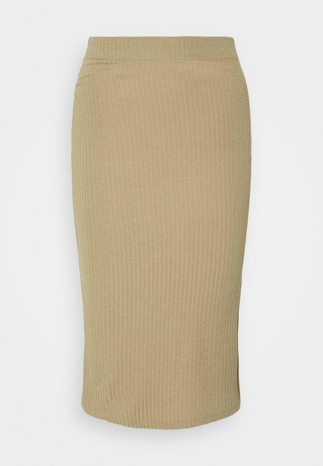 ONLNELLA  SLIT SKIRT - Falda de tubo - toasted coconut