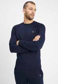 GANT - THE ORIGINAL C NECK  - Bluza - evening blue - 0