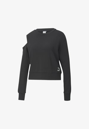 Sweatshirt - cotton black