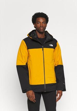 MOUNTAIN LIGHT TRICLIMATE JACKET - Down jacket - citrine yellow/black