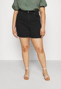 Dr.Denim Plus - NORA - Denim shorts - retro black - 0