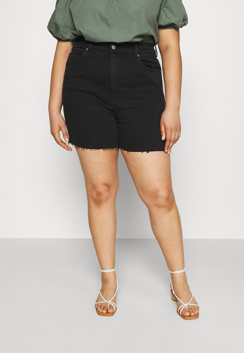 Dr.Denim Plus - NORA - Denim shorts - retro black