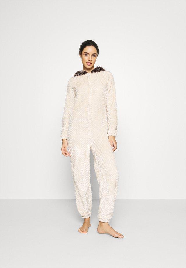 HEDGEHOG ONESIE - Pyjamas - beige