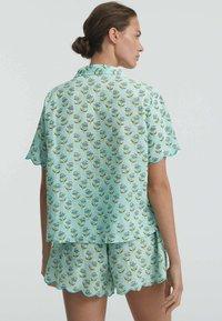 OYSHO - Button-down blouse - turquoise - 1