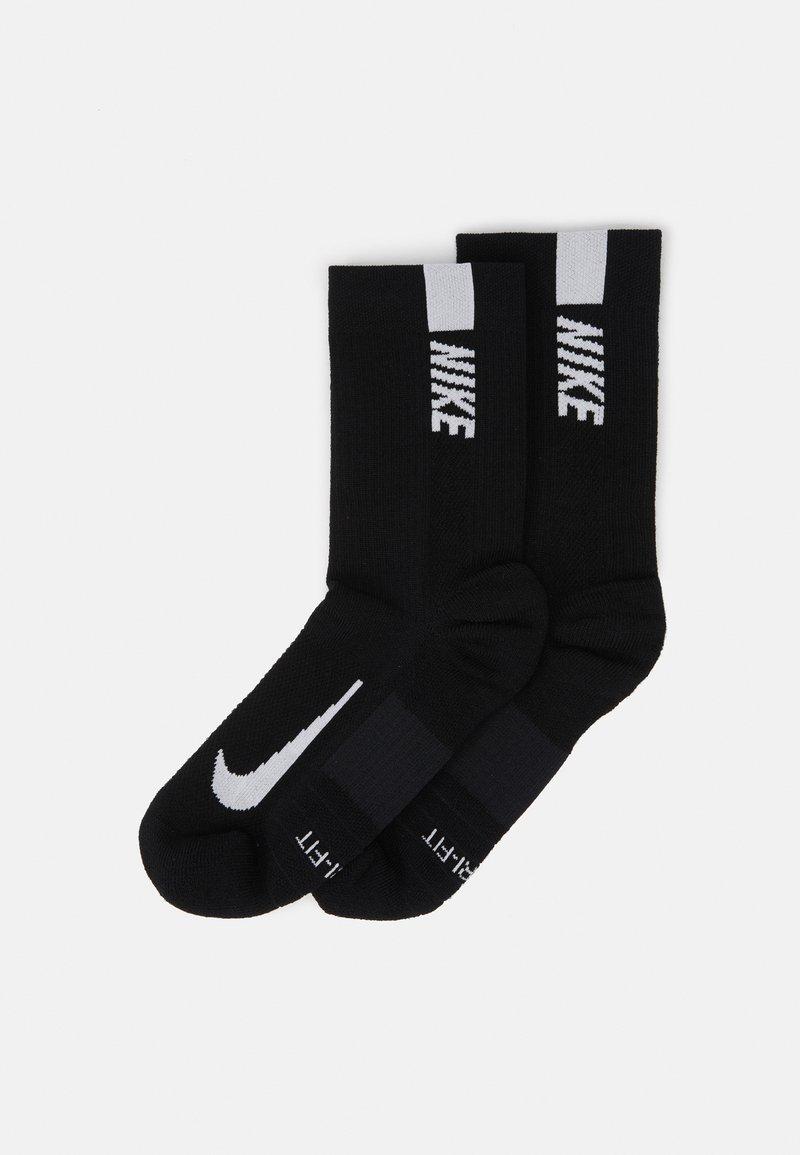 Nike Performance - 2 PACK UNISEX - Calcetines de deporte - black/white