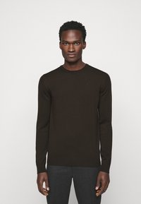 J.LINDEBERG - LYLE CREW NECK - Stickad tröja - dark brown - 0