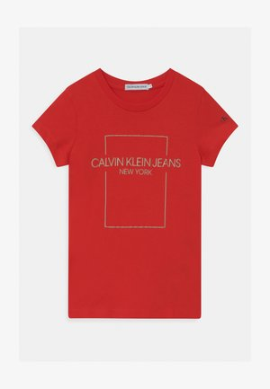 OUTLINE LOGO BOX SLIM  - T-shirt print - red