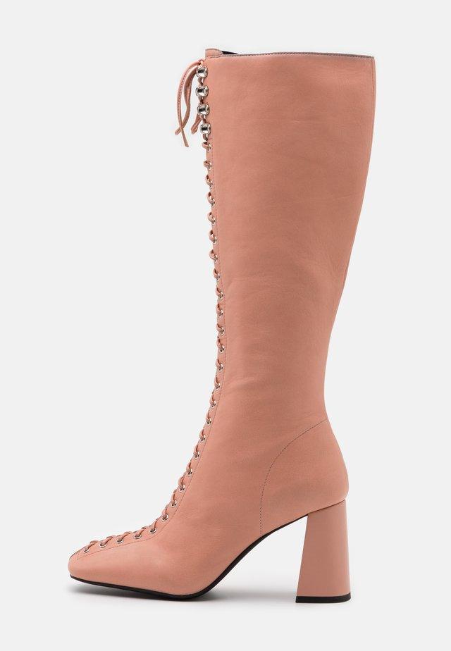 PATTI - Šněrovací vysoké boty - deep pink