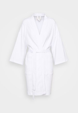 WAFFLE GOWN - Dressing gown - white