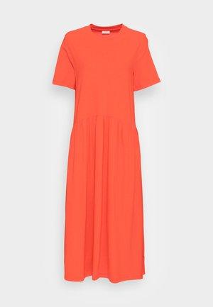 DRESS  RUFFLES - Jersey dress - fire red