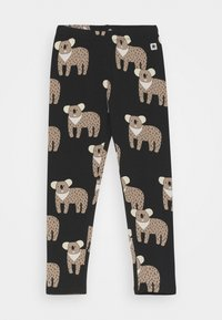 Lindex - MINI KOALA UNISEX - Leggings - Trousers - off black - 0