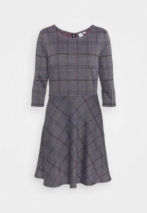 PONTE DRESS - Sukienka dzianinowa - grey/black