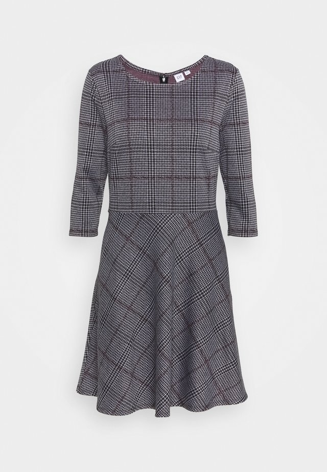 PONTE DRESS - Strickkleid - grey/black
