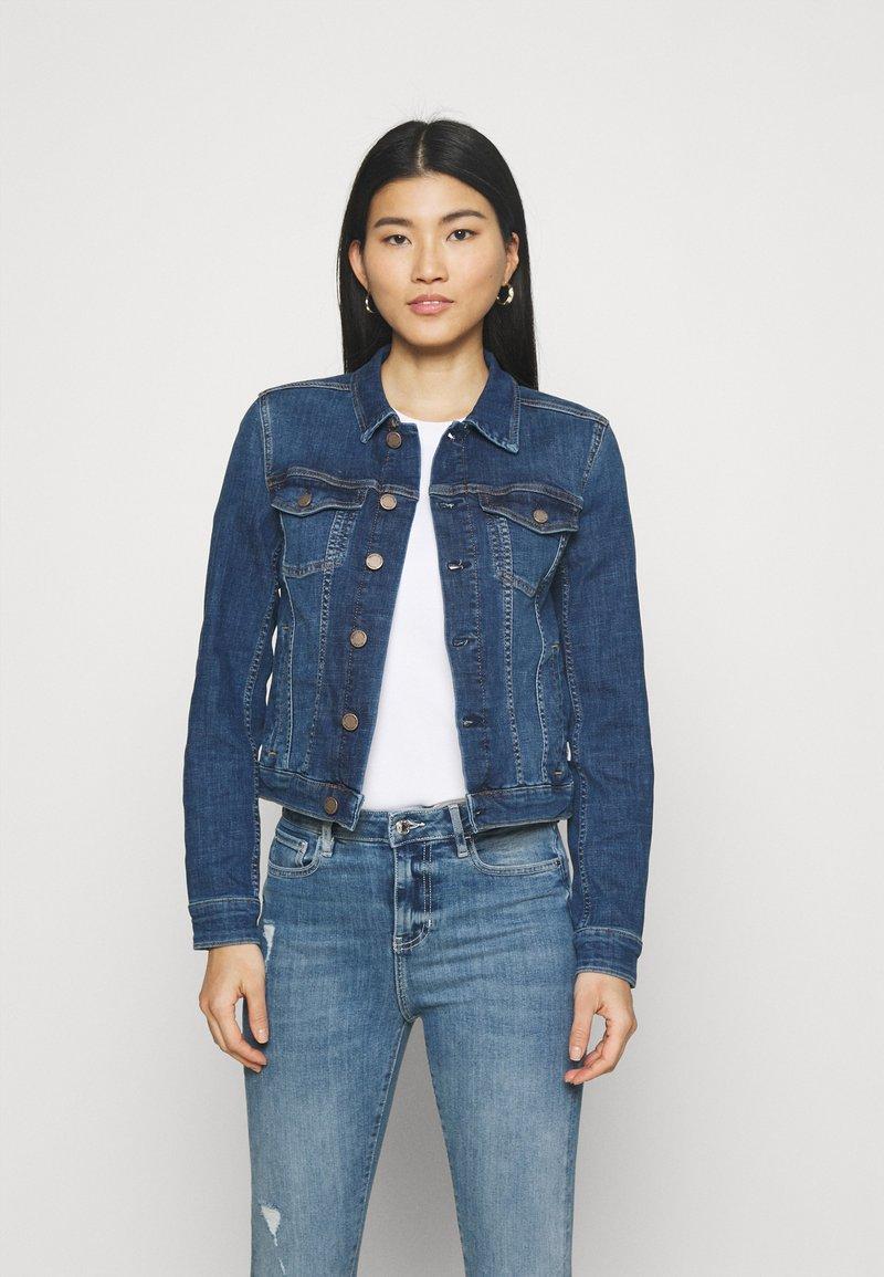 Marc O'Polo DENIM - JACKET REGULAR LENGTH PATCHED POCKETS - Denim jacket - multi/true indigo mid blue