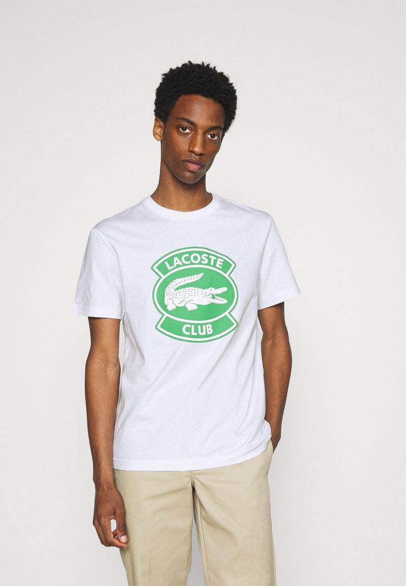 Lacoste - Print T-shirt - white