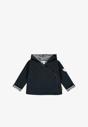 MIT FLAUSCHIGEM TEDDYBÄRMOTIV - Zip-up hoodie - steiff navy