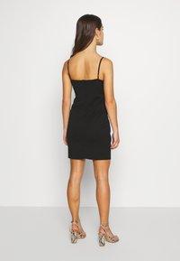 WAL G PETITE - SPAGUETTI STRAPS WRAP DRESS - Jersey dress - black - 2