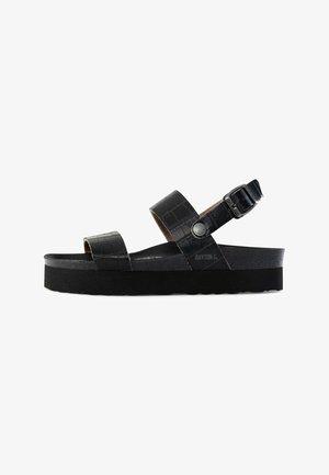 ALMERIA  - Sandały na platformie - black