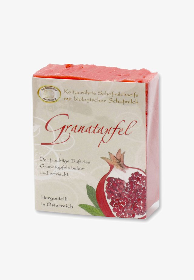 KALTGERÜHRTE SCHAFMILCHSEIFE GRANATAPFEL 150 G   - Soap bar - -