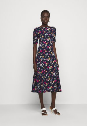Jersey dress - french navy / multi