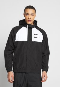 Nike Sportswear - Summer jacket - black/white/particle grey/(black) - 0