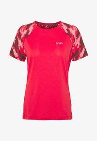 Gore Wear - DAMEN TRAIL TRIKOT KURZARM - T-Shirt print - hibiscus pink/chestnut red - 3