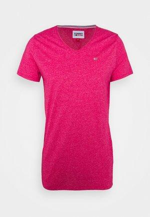 SLIM JASPE V NECK - Basic T-shirt - pink