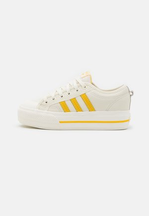 NIZZA PLATFORM  - Trainers - offwhite/haze yellow/chalk solid grey