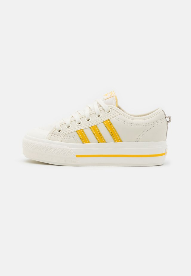 NIZZA PLATFORM  - Sneakers - offwhite/haze yellow/chalk solid grey
