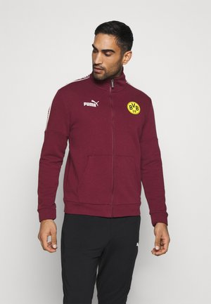 BVB BORUSSIA DORTMUND CULTURE TRACK  - Club wear - burgundy/cyber yellow