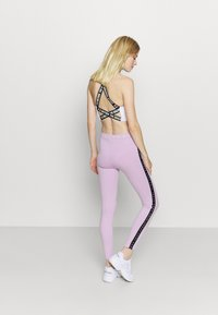 Pink Soda - CONGO TAPED - Leggings - lilac melange - 2
