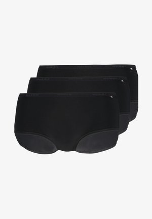 SHORT 3 PACK - Panty - black