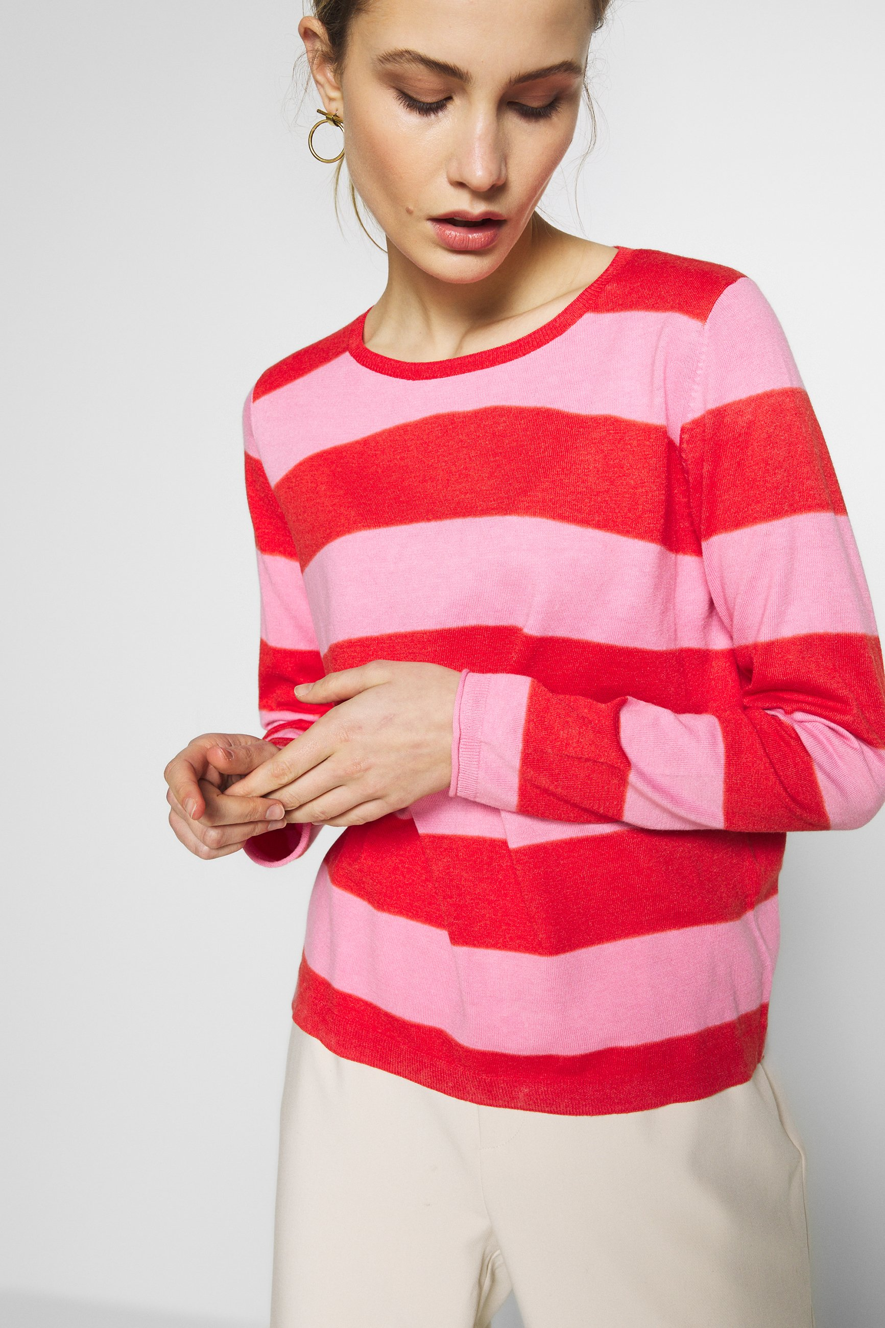 comma casual identity LANGARM - Pullover - red