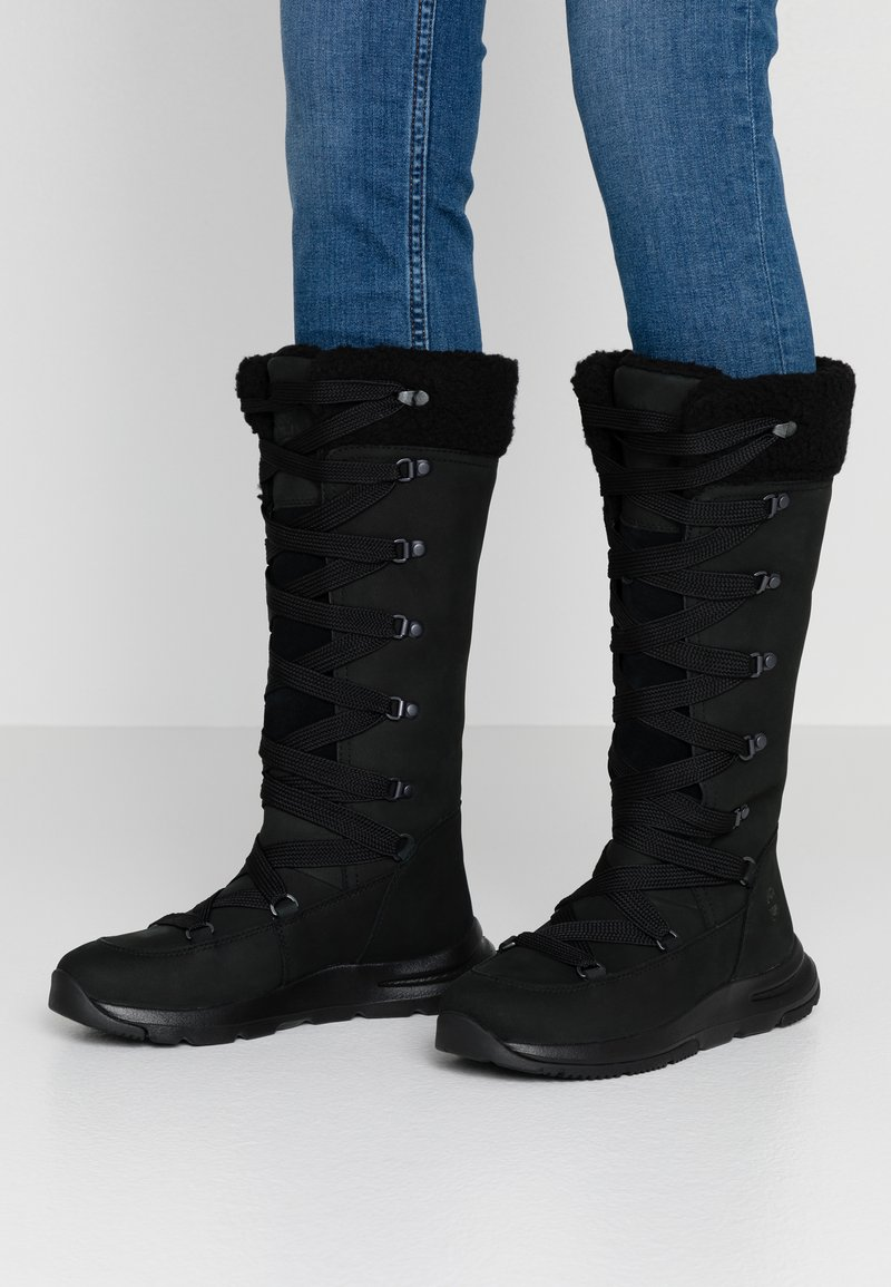 Timberland - MABEL TOWN WP TALL MUKLUK - Lace-up boots - black