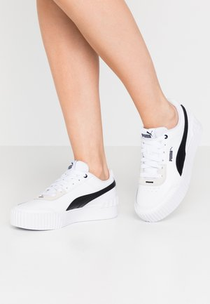 CARINA LIFT - Sneakersy niskie - white/black