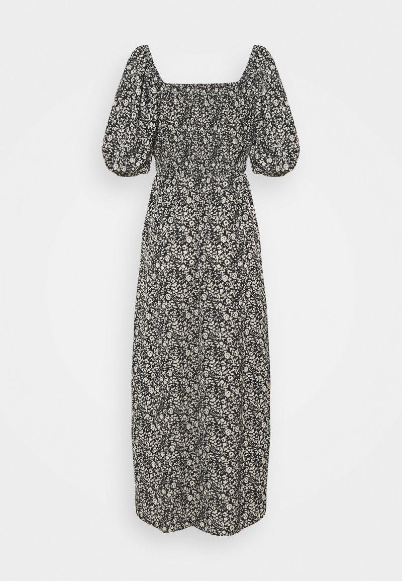 Missguided Tall - MILKMAID SHIRRED BUST MIDI FLORAL - Maxi dress - black