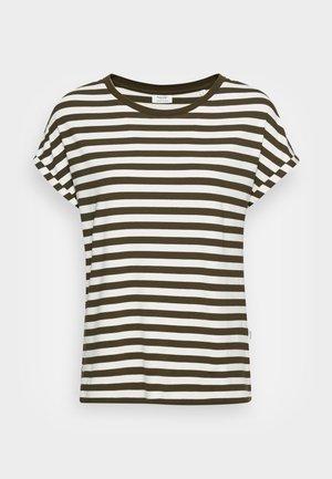 TEE - Print T-shirt - burnished logs