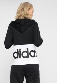 adidas Performance - LIN HOOD SET - Zip-up hoodie - black/white - 2