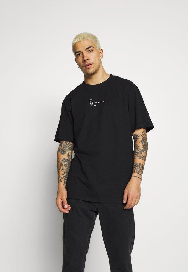 Karl Kani KK SIGNATURE TEE - T-shirt basic - black/czarny Odzież Męska PSLH