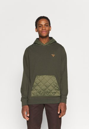 QUILT HOODIE - Mikina - olive